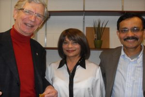 photo of Christopher Innes, Fiona Fernandes and Fahim Quadir