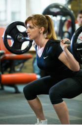 photo of Alix Voz working out
